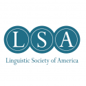 Linguistic Society of America logo in blue and white